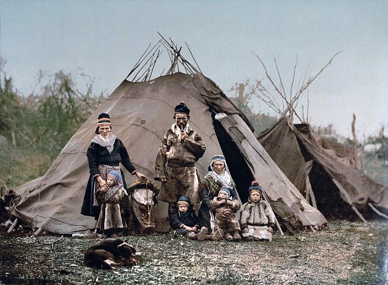Samische Familie um 1900
