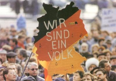 Demonstration Wir sind ein Volk, Deutschland, Schwarz-Rot-Gold